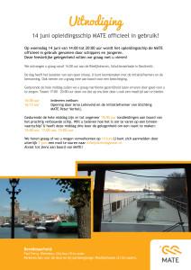 uitnodiging 14 juni MATE